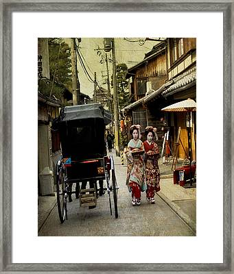 Two Geishas And A Buggy Framed Print by Juli Scalzi