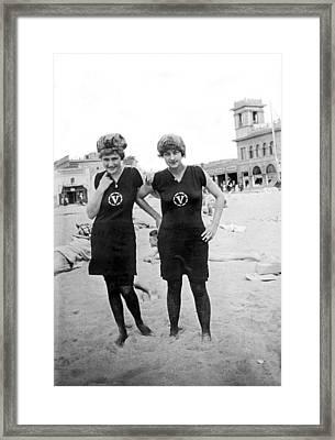 Two Girls At Venice Beach Framed Print