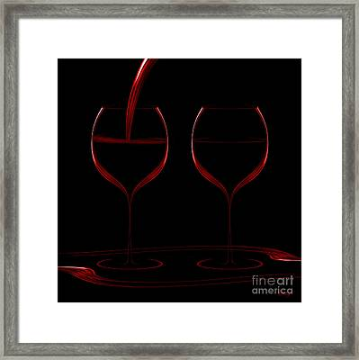 Two Glass Red Framed Print