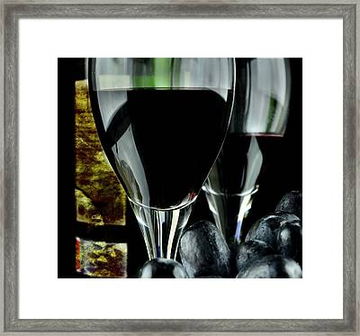 Two Glasses With Red Wine Framed Print