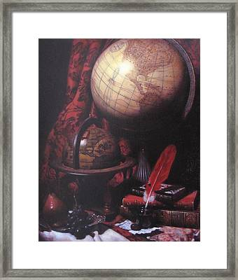 Two Globes Framed Print by Takayuki Harada