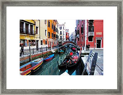 Two Gondolas Framed Print by Alison Tomich