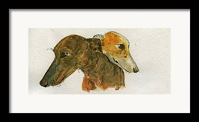 Sighthound Framed Prints