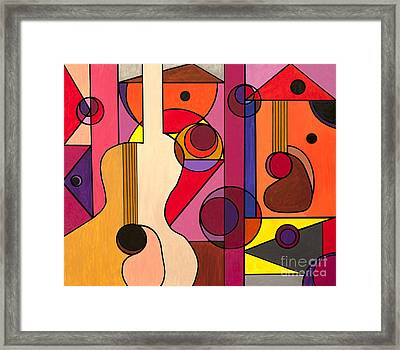 Two Guitars Framed Print