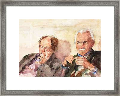Two Guys From Italy Framed Print by Rose Sinatra