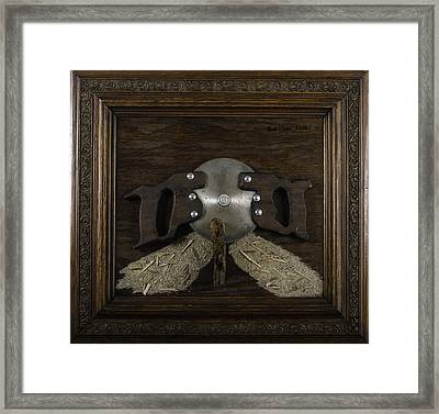 Two Handled Saw Blade Framed Print by Kurt Olson