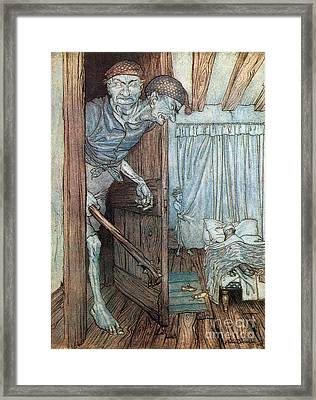 Two-headed Welsh Giant, Legendary Framed Print by Photo Researchers