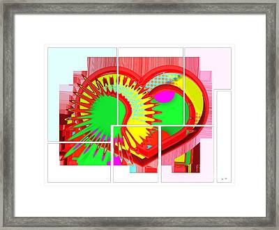 Two Hearts Are Better Than One Framed Print by Liane Wright