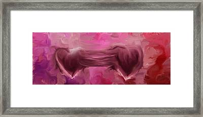 Two Hearts Beat As One Framed Print by Linda Sannuti