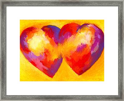 Two Hearts Beat As One Framed Print by Stephen Anderson