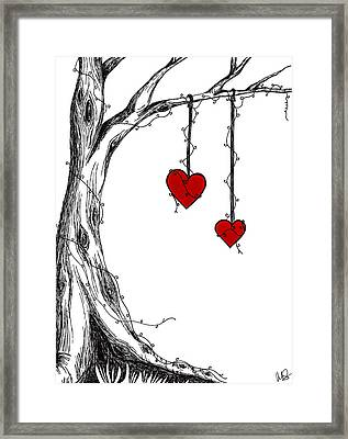Two Hearts But One Love Framed Print