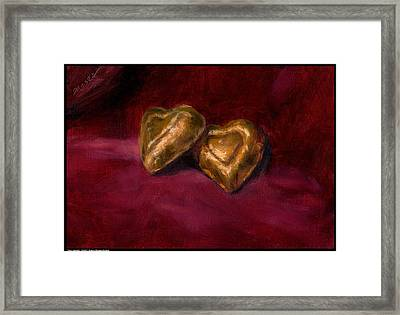 Two Hearts Framed Print by Diana Moses Botkin