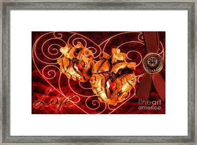 Two Hearts Framed Print by Mo T