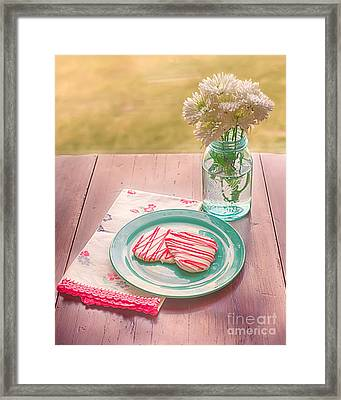 Two Hearts Picnic Framed Print by Kay Pickens