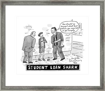 Two Henchman -- Student Loan Sharks -- Approach Framed Print
