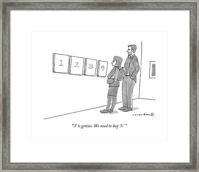 Two Hip-looking People In A Gallery Framed Print