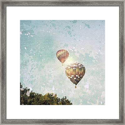Two Hot Air Balloons Framed Print by Brooke T Ryan