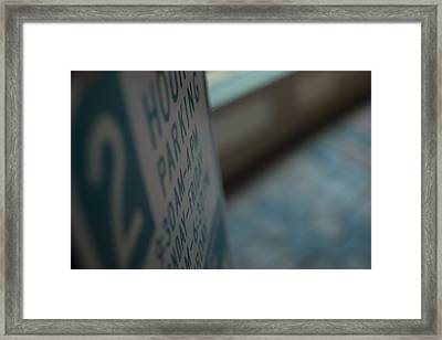 Two Hour Parking Framed Print by Michael Williams