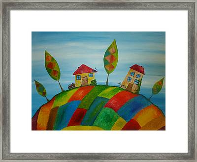 Two Houses Framed Print by Beata Dagiel