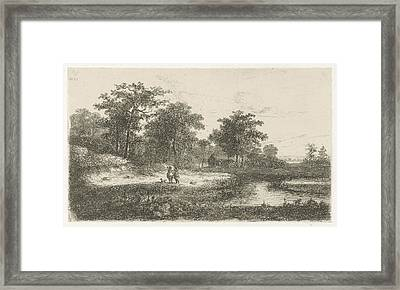 Two Hunters, Print Maker Hermanus Jan Hendrik Van Framed Print