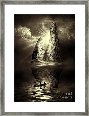 Two In A Boat Framed Print by Svetlana Sewell