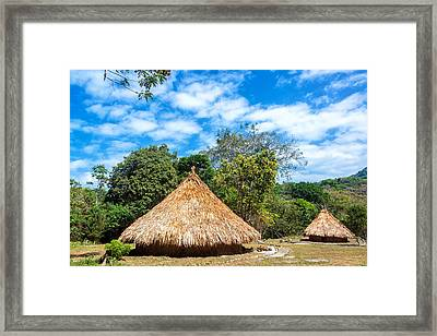 Two Indigenous Huts Framed Print by Jess Kraft