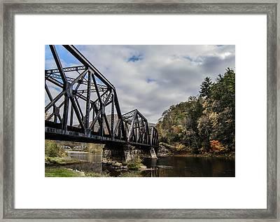 Two Iron Bridges Framed Print by Anthony Thomas