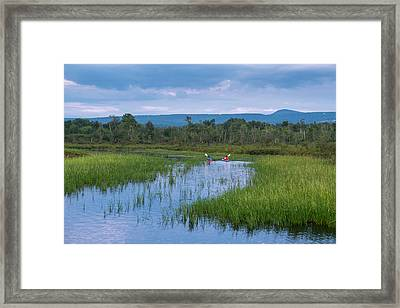 Two Kayaks On Brome Lake  Quebec, Canada Framed Print