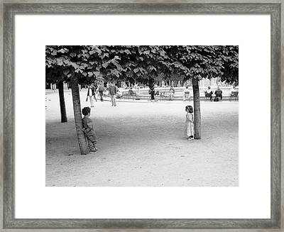 Two Kids In Paris Framed Print