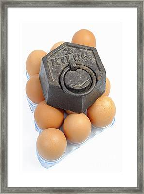 Two Kilos Weight On Eggs Framed Print