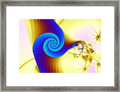 Two Kinds Of Spiral Framed Print by Mark Eggleston