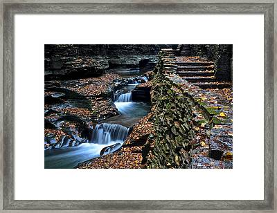 Two Kinds Of Steps Framed Print by Frozen in Time Fine Art Photography
