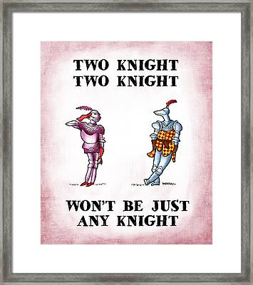 Two Knight Two Knight Framed Print by Mark Armstrong