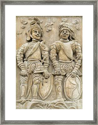 Two Knights - House Sign Framed Print