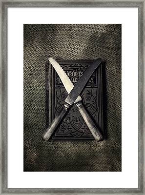 Two Knives And A Book Framed Print by Joana Kruse