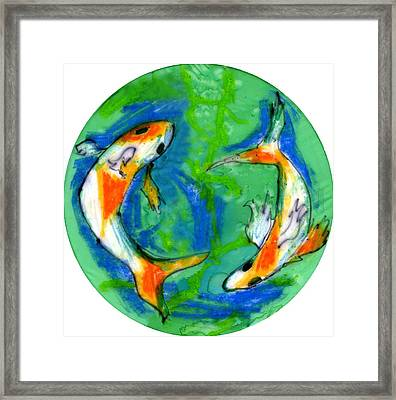 Two Koi Fish Framed Print by Genevieve Esson