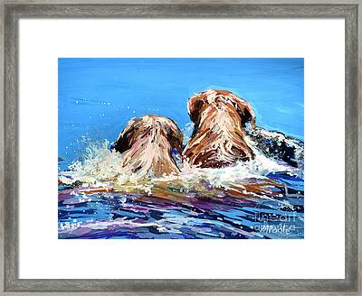 Two Labs One Wake Framed Print