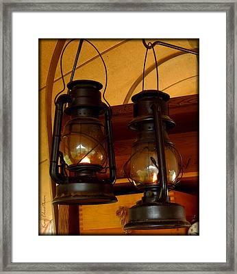 Two Lanterns Framed Print by Kae Cheatham