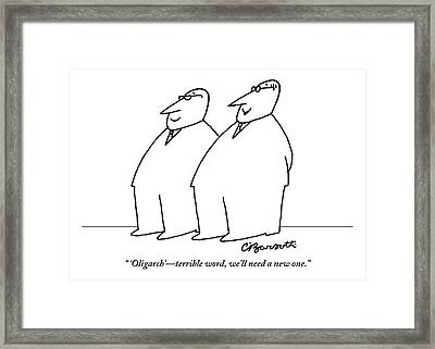 Two Large Men Wearing Suits Framed Print