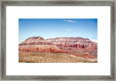 Two Layered Mountains Framed Print