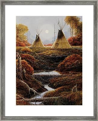 Two Lodges Framed Print by Steve Spencer