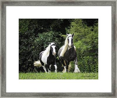 Two Lovely Girls Framed Print