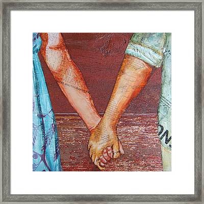 Two Lovers Entwined Framed Print by Danny Phillips