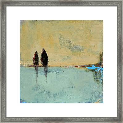 Two Lovers On The Line Framed Print by Jacquie Gouveia