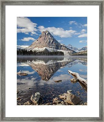 Framed Print featuring the photograph Two Medicine Morning by Jack Bell