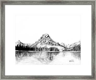 Two Medicine Mountain Framed Print by Kayleigh Semeniuk