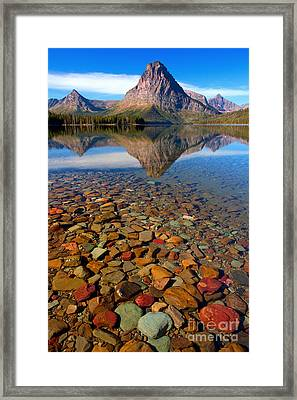 Two Medicine Reflection Framed Print by Aaron Whittemore
