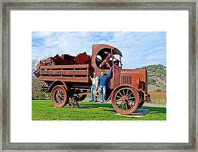 Two Men And A Truck In Calistoga-ca Framed Print by Ruth Hager