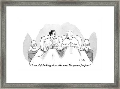 Two Men Are In Bed Together. One Framed Print