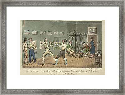 Two Men Boxing Framed Print by British Library